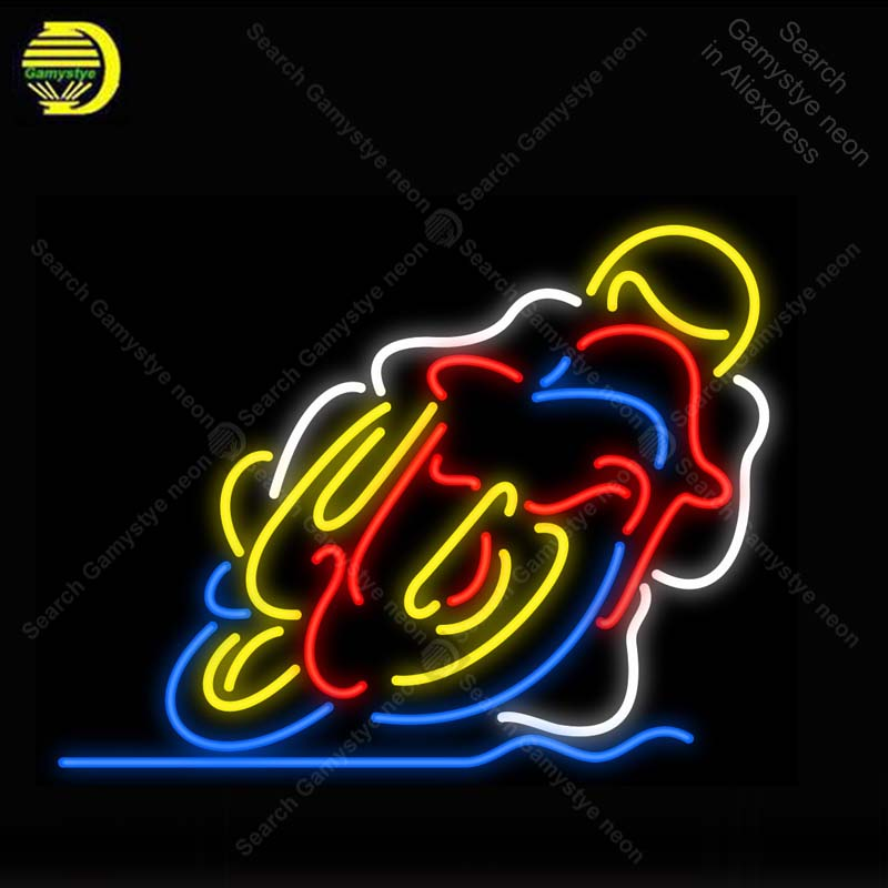 Neon Sign for Motorcycle Neon Light Neon Bulb sign Beer Display club Business handcraft glass tube light Decor lamps for sale