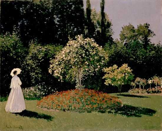 Claude Monet A woman in the garden Canvas Painting impressionist - Home Decor