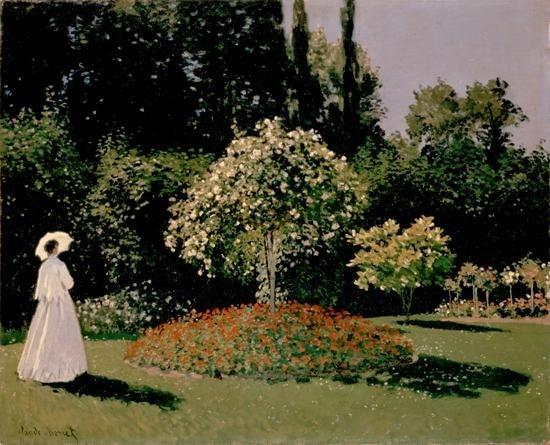 Claude Monet Una mujer en el jardín Lienzo Pintura impresionista - Decoración del hogar
