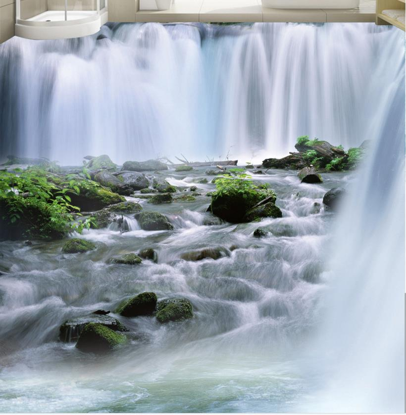 ФОТО High quality 3d flooring pvc water custom 3d Landscapes floor non-slip wear thickend self-adhesive wallpaper