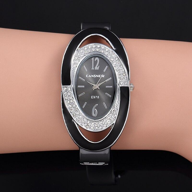 Женские часы-браслет с кристаллами Montre Femme, модные часы-браслет со стразами