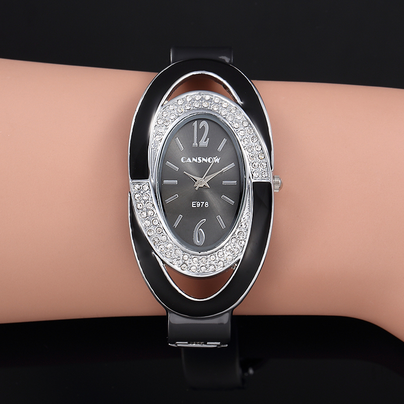 Montre Femme Creative Luxury Women Rhinestone Bracelet Watch Fashion Woman Bangle Watch Ladies Watch Zegarek Damski Female Clock