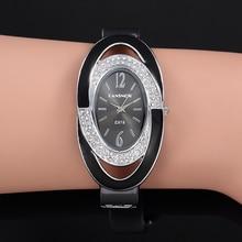 Montre Femme Creative Luxury Women Rhinestone Bracelet Watch Fashion Woman Bangl