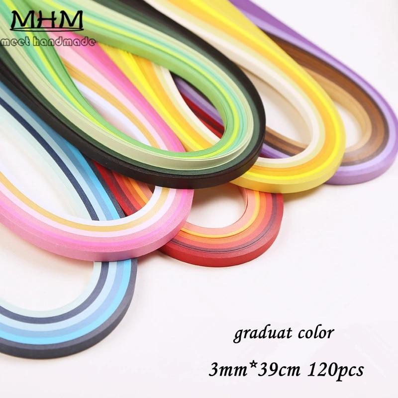 FidgetKute DIY 120 Strips 3mm Quilling Paper Mixed Origami Paper Craft Handcraft Colored #L156-10 Dark Brown