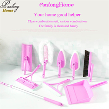 On sale PanlongHome 2017 The New Telescopic Aluminum Rod Mop Sweep Sponge Wiping Tile Brush Floor Tile Plastic Wipers House Cleaning Set