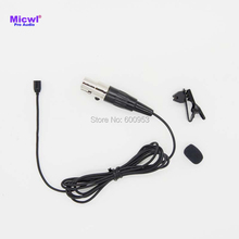 MICWL TA4F 4Pin XLR Micro Mini Tie Clip-On Lavalier Lapel Omnidirectional Microphone for Shure Wireless