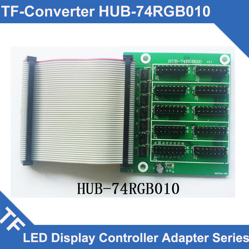For Sale Longgreat TF Series HUB-74RGB010 LED Display Control Card Adapter Board Full Color For TF-VTA02 Card