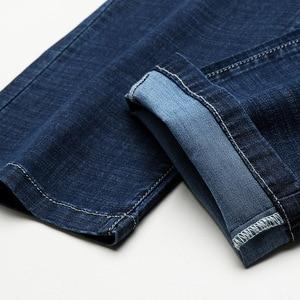 Image 4 - 2020 männer Herbst Winter Baumwolle Jeans Männer Stretch Business Hosen Mode Hosen Denim Jean Herren Jeans große größe 35 40 42 44 46