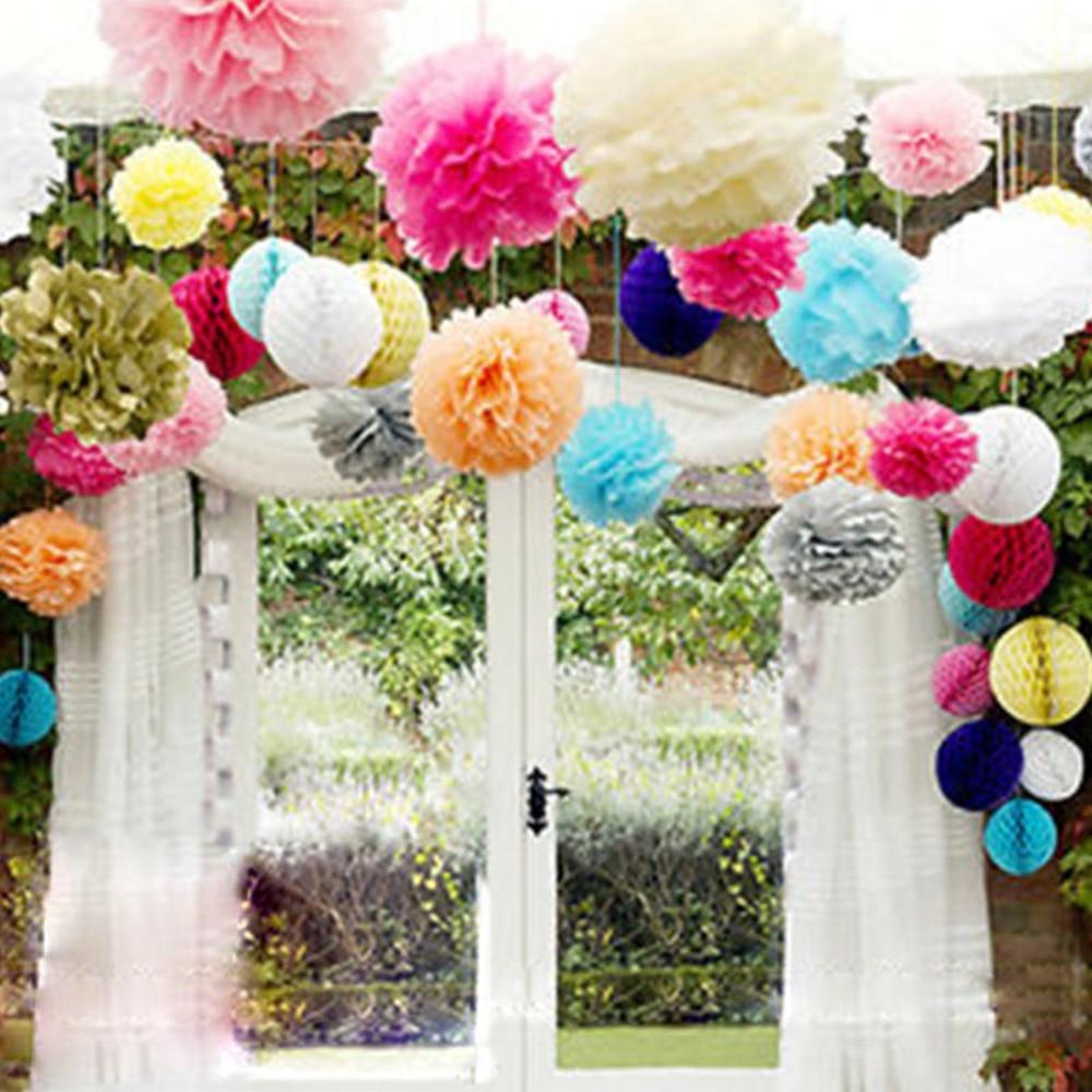 1pc 20cm Tissue Paper Pom Poms Flower Balls Party Wedding Home