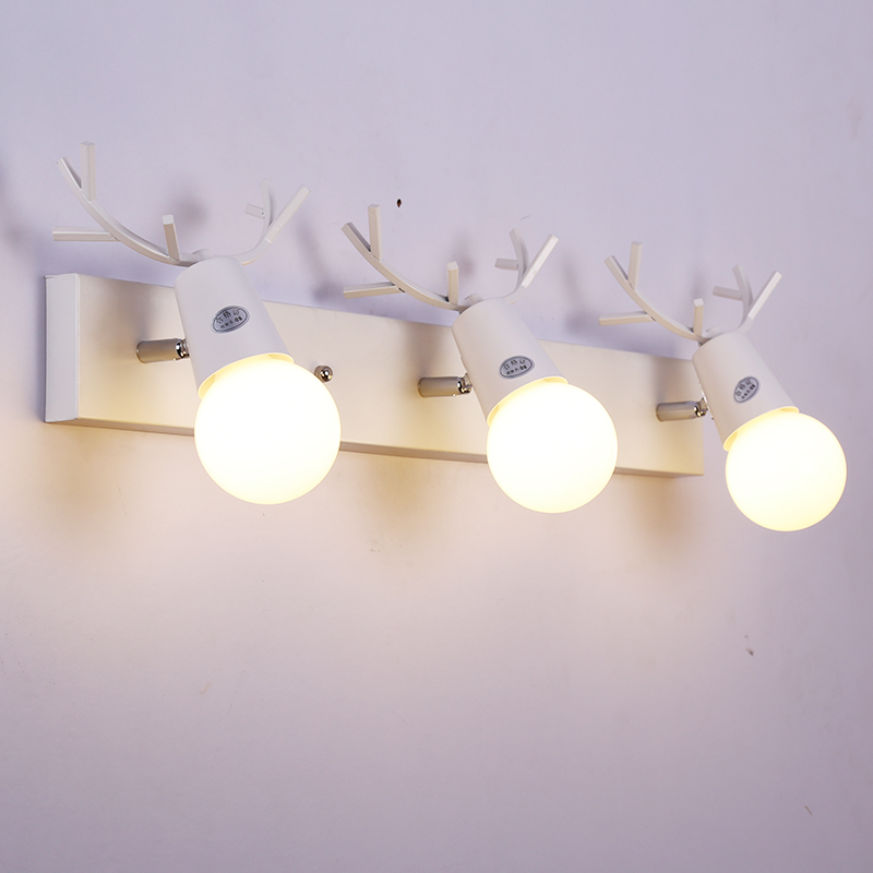 Mirror Lamp Led Creative Modern Wall Light Bathroom Bathroom Cabinet Lights Antlers Dresser Dresser Mirror Lamp Lighting mirror light led waterproof antimist bathroom mirror glass wall lamp nordic brief modern mirror cabinet lamp led lighting
