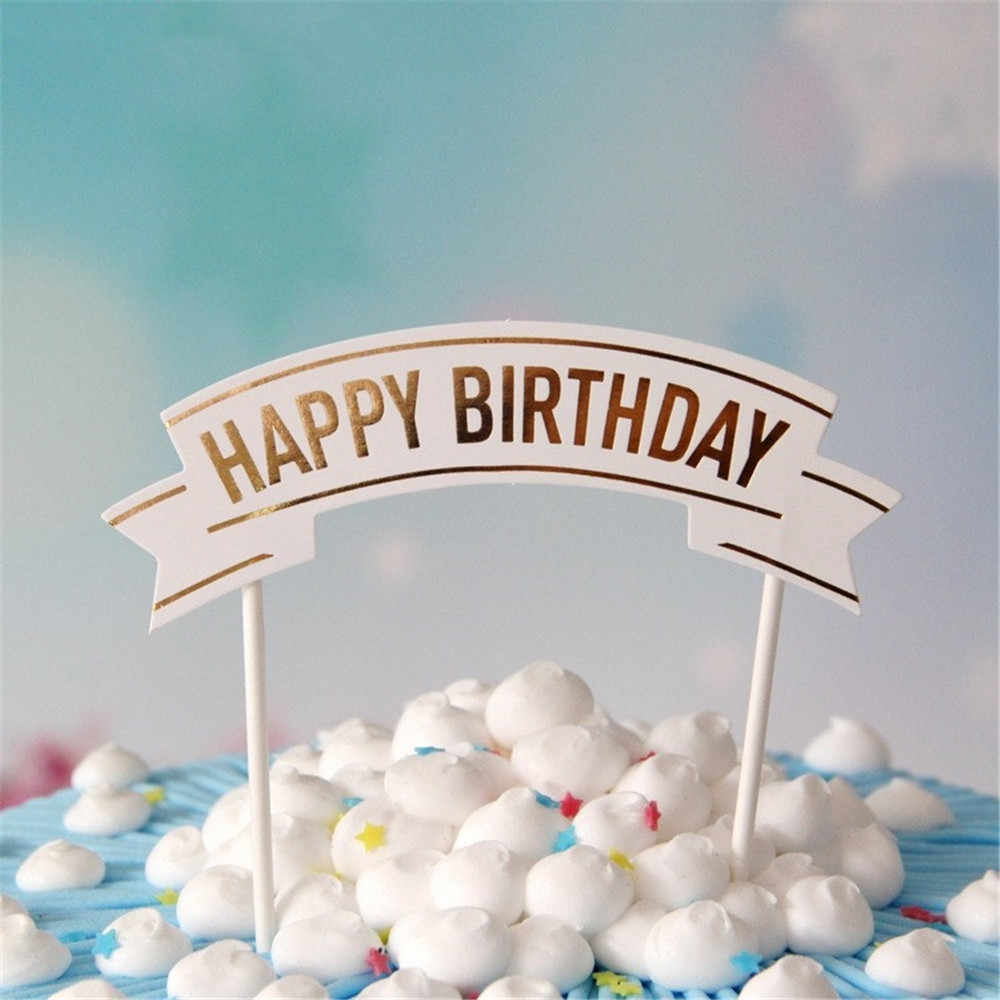 Amazing Crley Wholesale 12Pcs Lot Cake Topper Personalized Happy Birthday Birthday Cards Printable Opercafe Filternl