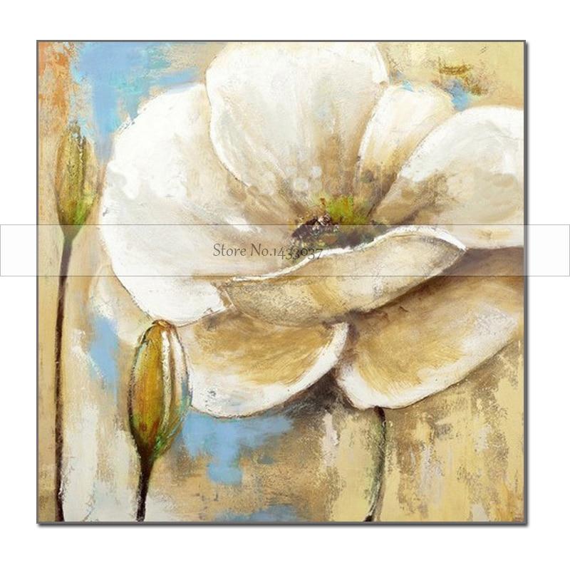 100% Piktura me Mure Abstrakte Piktura Për Dhomën e Jetesës Lule - Dekor në shtëpi - Foto 1