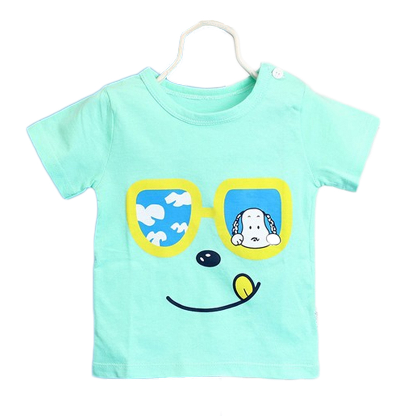 Boys Girls Unisex Baby T-shirts 2017 High Quality Fashion Lovely T-shirts Casual O-neck Short Sleeve 100% Cotton Kids T-shirt
