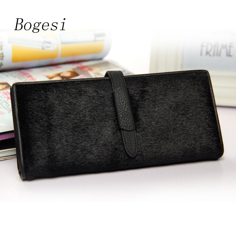 New 2017 Luxury Lady Purse Genuine Leather Wallet Women Top Grade Metal Hasp  Female Cards Holder Famous Brand Clutch Wallets