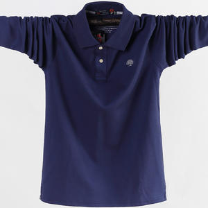 2018 Men Business Casual Cotton Male Long Sleeve Polo Shirt e7f5fef01952d