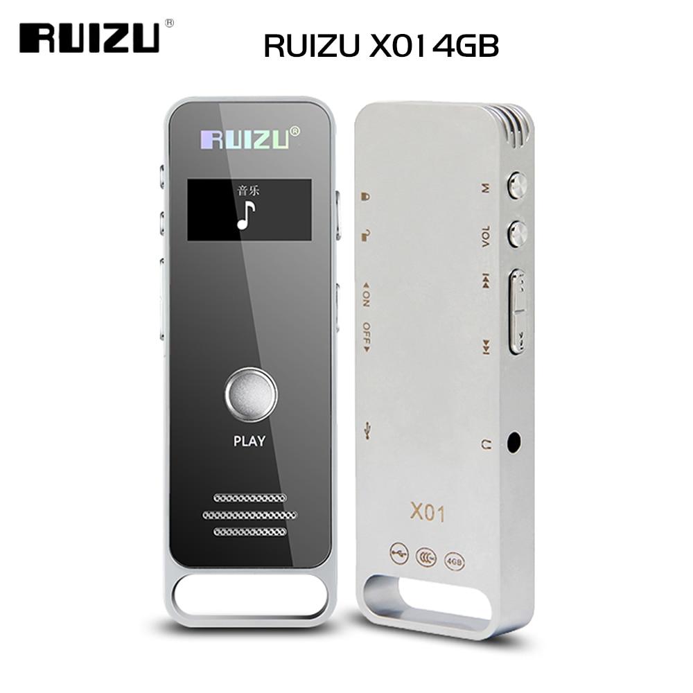 Newest Original RUIZU X01 Sport Mini Portable Lossless MP3 Music Player Hidden Digital Audio Voice Recorder Pen 4GB Dictaphone ruizu x09 portable mp3 music player 4gb for running