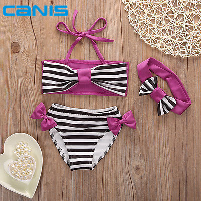 Cute baby little girls rain bow Fringe string Bikini swimsuit bathing suit for kid toddler Swimwear Biquini infantils