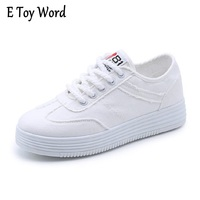 E TOY WORD Canvas Shoe Female 2017 New Autumn South Korean Version Of The Style Of