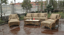 6-pcs half round rattan sofa set Pastoralism Home Indoor / Outdoor Rattan Sofa For Living Room