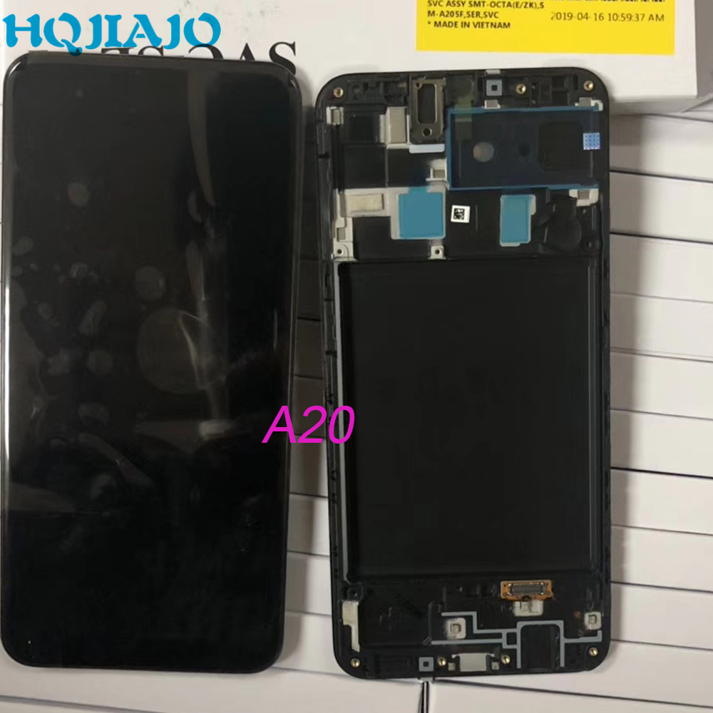 Original For Samsung Galaxy A505F/DS A305F/DS A205D/DS LCD Display Touch Screen Digitizer Assembly For A20 A30 A50 With Frame image