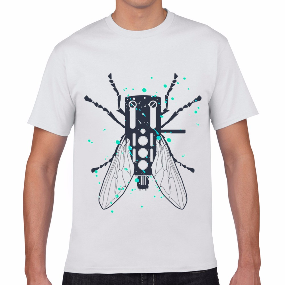 Hot best selling modal fashion design black insect cicada for Create and sell t shirts