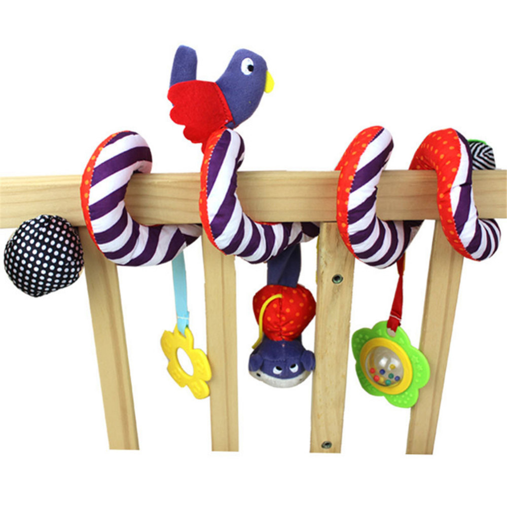 Baby Animal Playpens Baby Rattle Toy Cartoon Plush Multi-functional Bed Circle Around Bed Hanging Bell for Newborn Gift