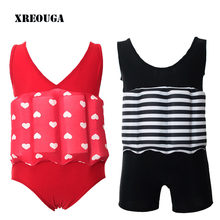 Floating Buoyancy Baby Boy/Girl Swimsuits Detachable Swimwear Siamese Swimming Training Kids Swimming Float Suits(China)