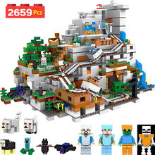 My World Series Compatible LegoINGlys Minecrafter The Mountain Cave Zombie Blocks For Toddlers Iron Golem Brick Enlightened Toy