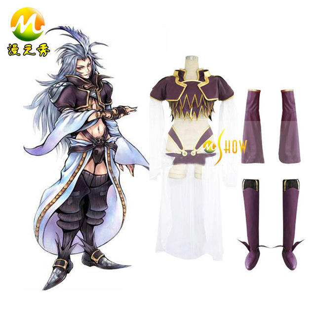Wholesale Final Fantasy IX 9 Kuja Cosplay Costumes For Sale Halloween Party Night Clothes Custom Made