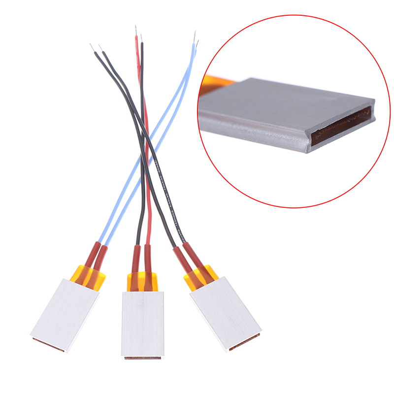 1pc 12V Constant Temperature PTC Heating Element Thermostat Heater Plate 35*21mm