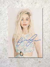 signed Emilia Clarke Game of Thrones autographed original photo 7 inches free shipping  092017D