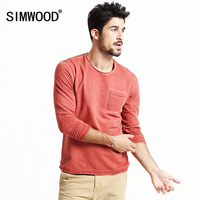 SIMWOOD 2016 New Autumn Winter Long Sleeve T Shirts Men Fashion Casual Vintage Tees 3 Colors