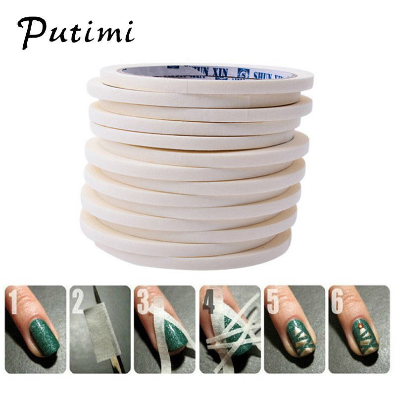 Putimi Nail Striping Tape Line DIY Water Decal Nail Art Stickers Design Adhesive Strips for Nails Styling Tool Manicure Tape