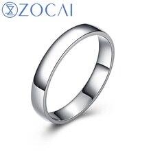 Zocaiブランド永遠コミットメントreal certified男性と女性のウェディングバンドリングプラチナpt950 Q00607B