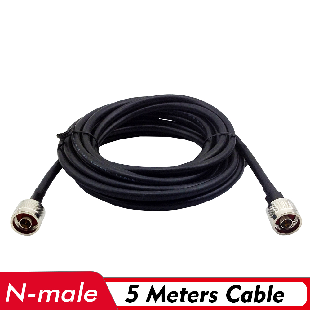 5 Meters Coaxial Cable N Male Connector Low Loss Signal 5M Cable Connect With Outdoor/Indoor Antenna And 2G/3G/4G Signal Booster