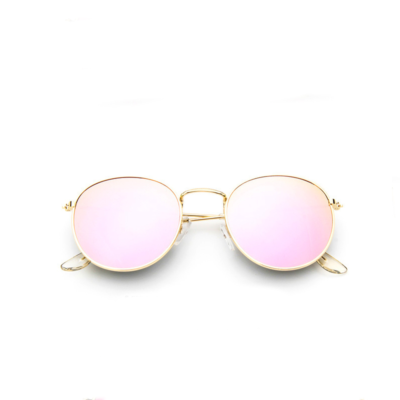 2017 Retro Round Sunglasses Women Men Brand Designer Sun Glasses For Women Alloy Mirror Sunglasses Ray