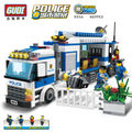 Mobile Police Station Building Blocks Set Model Bricks Car Action Figure Toys Birthday Christmas Gift for Children