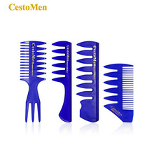 CestoMen Series Hairdressing Insert Curly Hair Afro Comb Oil Slick Hair Styling Men Combs Wide Tooth Professional Pomade Comb cestomen series hairdressing insert curly hair afro comb oil slick hair styling men combs wide tooth professional pomade comb