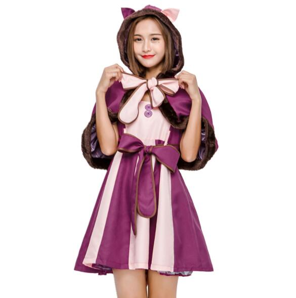 Halloween Costumes For Women Party Alice Costume Hot Alice In Wonderland Costume Cheshire Cat Cosplay Fancy Dress A101