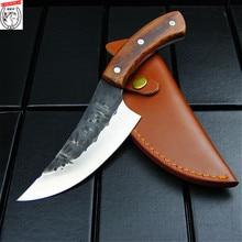 Everrich japanesehigh 炭素鋼屋外ナイフ鍛造ナイフ手シェフによって唐、包丁でスライス、肉屋ナイフ