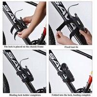 New Bike Anti Theft Chain Lock Foldable Mini Hamburger Cycle Folding Lock Security Steel Cycling Bicycle Accessories