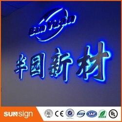 Aliexpress LED signage manufacturer brushed stainless steel backlit letters