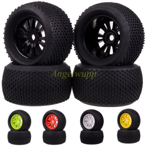 4pcs 1 8 Rc Wheel Rim And Rubber Tires For Cars Nitro