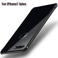 עבור iphone מקרה 7 בתוספת אלומיניום סגסוגת מתכת + אקריליק יוקרה כריכה אחורית עבור iphone 7 מקרים