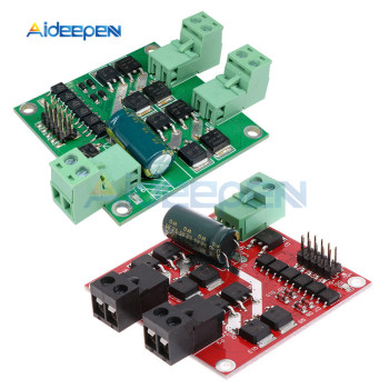 160W 7A 12V 24V Dual Channel DC Motor Driver Module H-bridge L298 Logic Control Signal Optocoupler PWM Drive Reversing Braking - discount item  3% OFF Electrical Equipment & Supplies