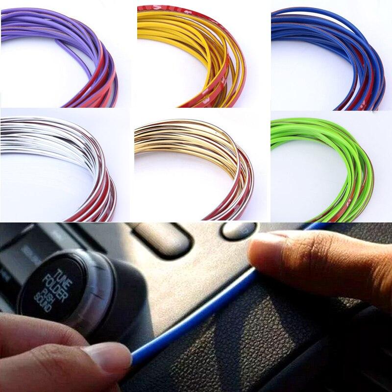 HUANLISUN 3 meters decorative strip multicolor 3M car decoration thread sticker Body Modify Decal Auto Car Stickers Decoration
