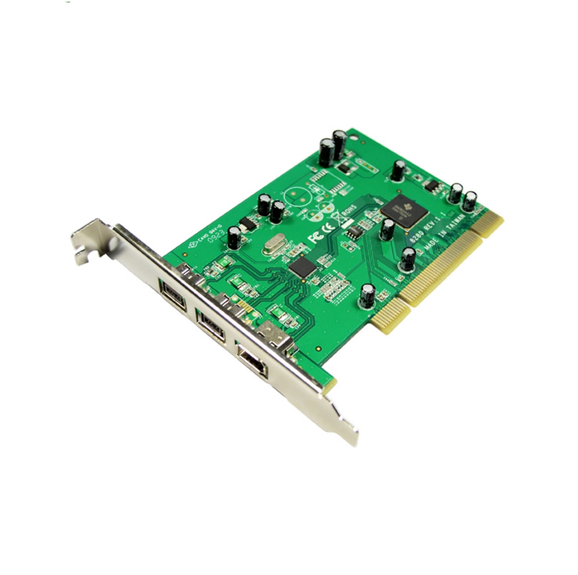 IOCREST PCI Combo 2x 1394b + 1x 1394a Firewire Ports PCI Controller Card 1394 card TI Chipset 6pin cable win10 syba 3 port firewire 1394b 1394a pci express 1 1 x1 card ti xio2213b chipset sy pex30016