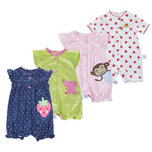 Baby clothes summer newborn jumpsuit coverall Korean style c