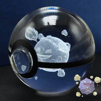 Crystal Ball Pokeball Glass Koffing Pokemon Go Xmas Gift