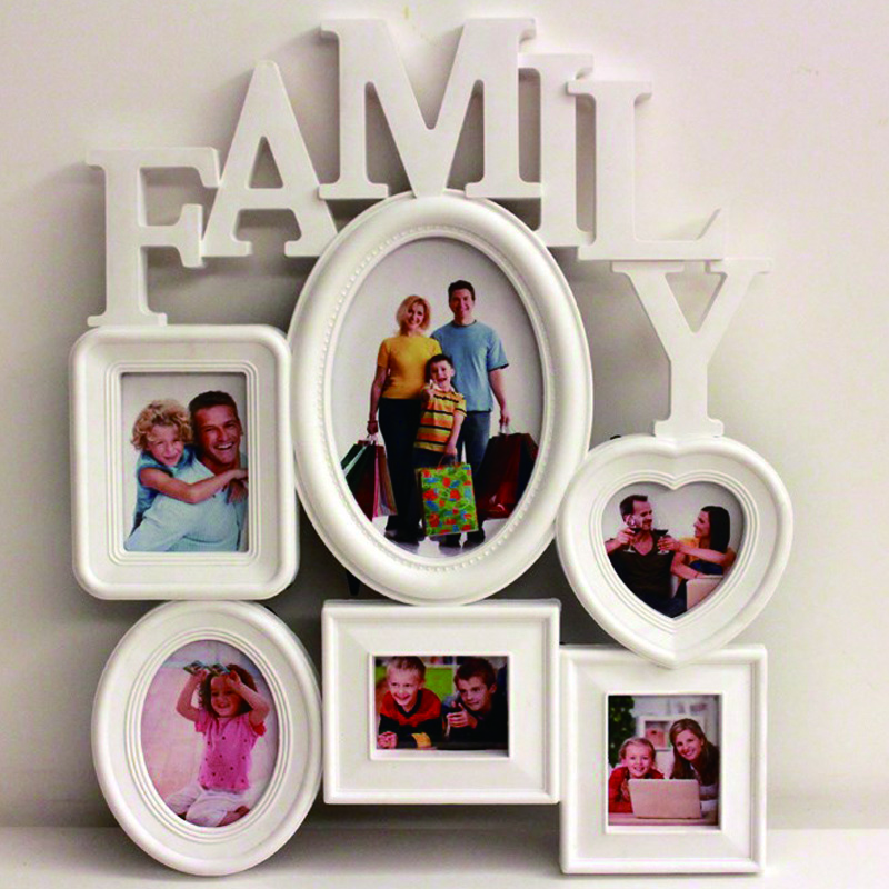 Home Decoration Photo Frame Europe Style Creative 6 Box Family Combination Photo Frame For